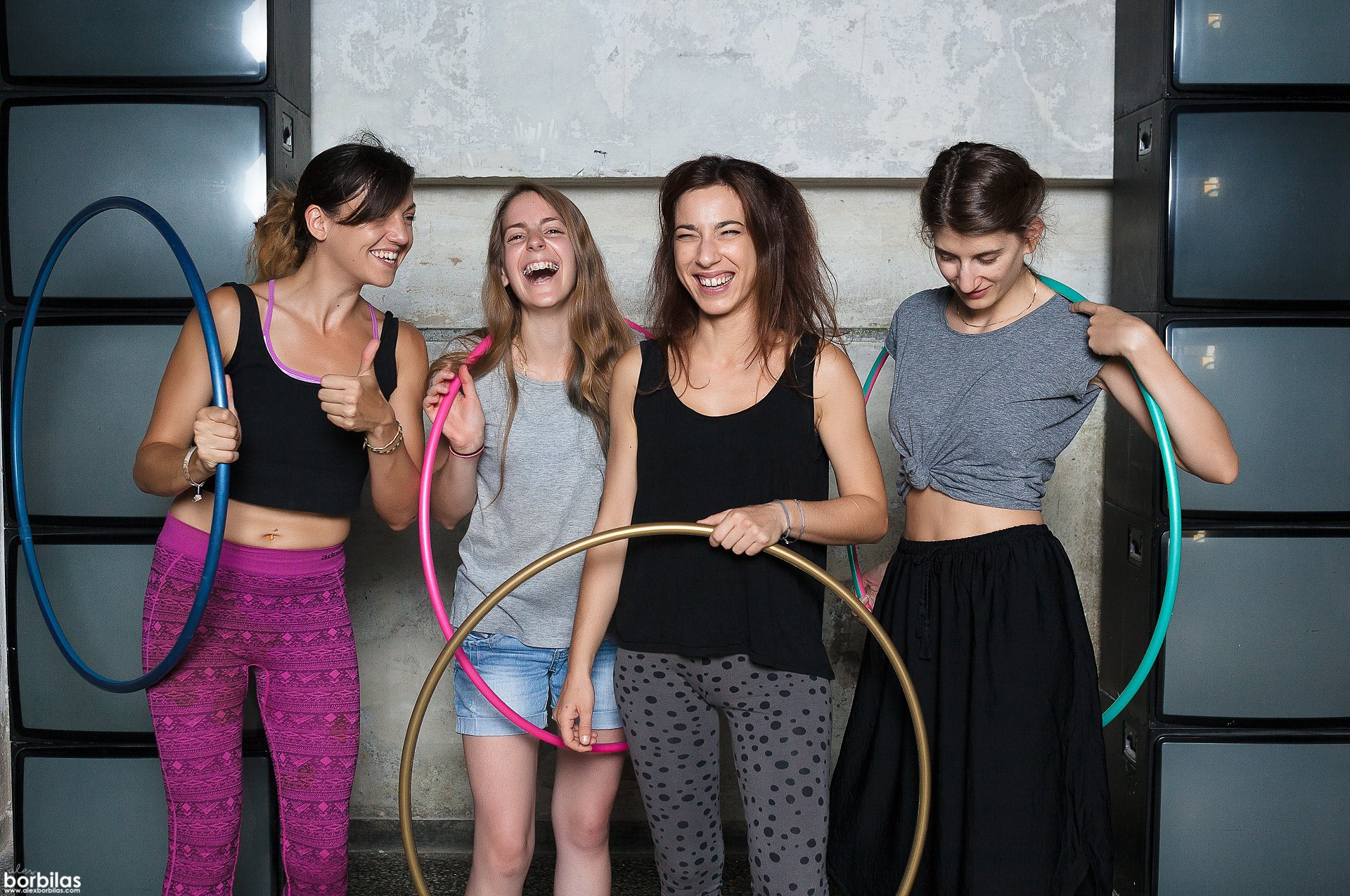 Sunny Diz's Hoopit! Hula Hoop Crew Chilling with Hoops